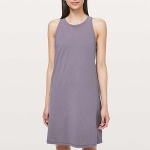 Lululemon Early Morning Dress Graphite Purple EUC